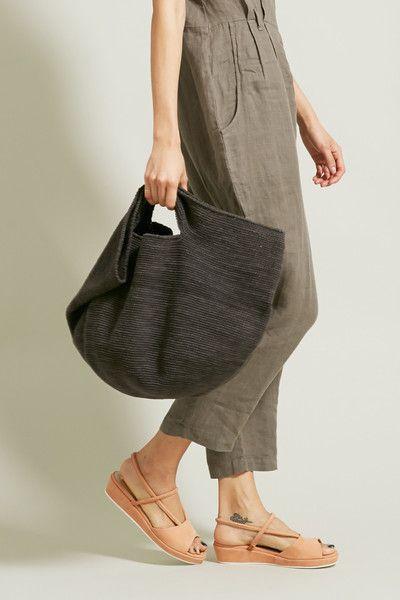 Lauren Manoogian Crochet Bowl Bag in Oscuro
