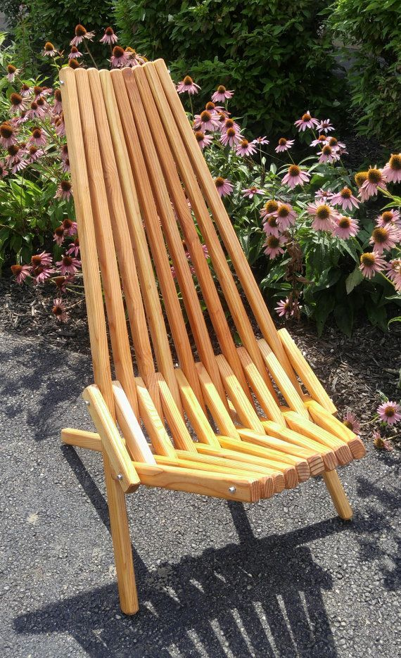 Handsome Folding Stick Chair Linseed Oil Finish Extended