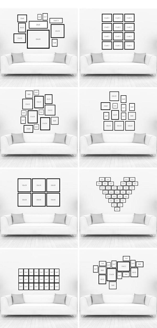 Wandgestaltung Wohnzimmer – 20 kreative Wanddeko Ideen