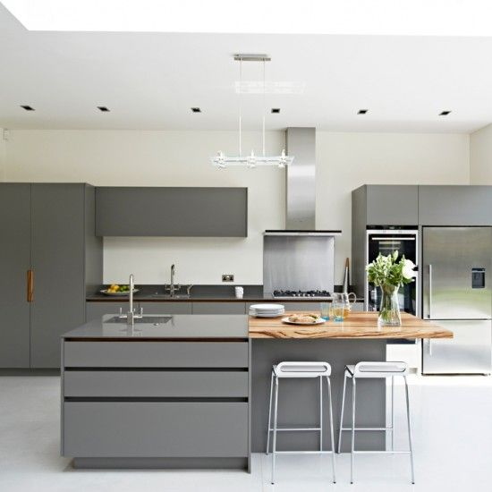Mix materials for style and comfort | Kitchen design ideas | kitchen island | open plan living | PHOTO GALLERY | Beautiful Kitchens | housetohome.co.uk