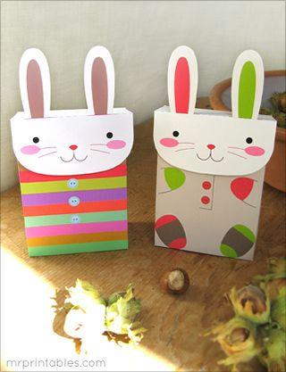 Printable Party Favors | Bunny Favor Bags - Mr Printables
