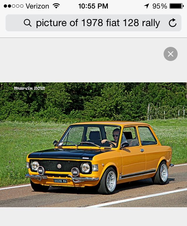 1978 Fiat 128 Rally, restoring one to this original look. Love the color pattern! Classic Fiat Rally