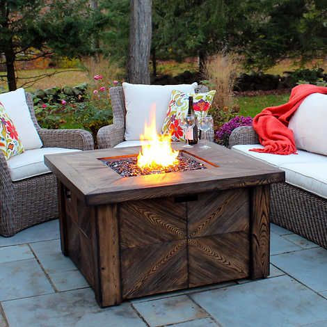 Alderbrook Faux Wood Fire Table