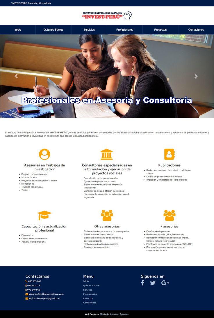 Institución que brinda servicios de consultorías, asesorías y proveedurías a diversas organizaciones públicas o privadas; también realiza capacitación, especialización, formación profesional continua en educación, salud y otros campos anexos.