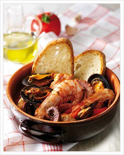 CACIUCCO ALLA LIVORNESE (Toscana): a fish soup from Livorno