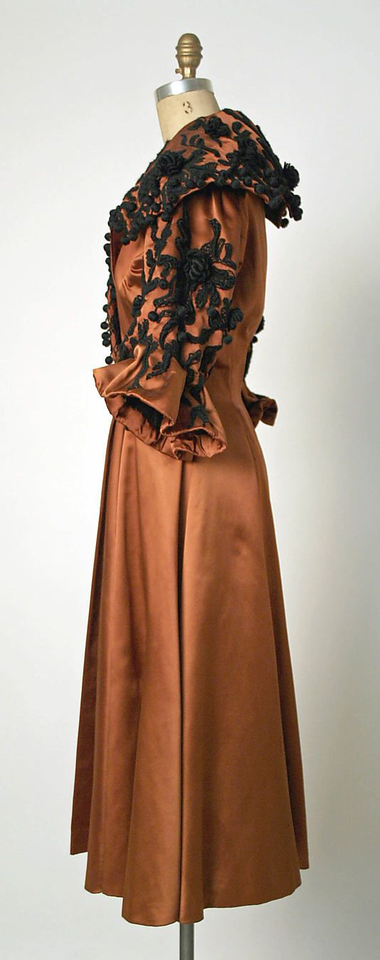 Evening coat Designer: Cristobal Balenciaga (Spanish, 1895–1972) Date: fall/winter 1948–49 Culture: French Medium: silk, wool