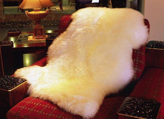 Genuine Real Australian Single Pelt Large Sheepskin Rug (Real 2 ft+ x 3.5 ft)