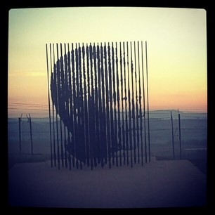 Incredible Nelson Mandela statue where he was captured in Howick, KwaZulu Natal
