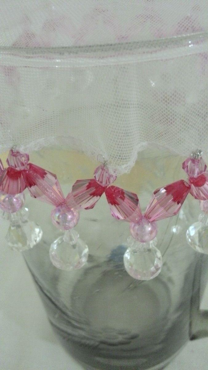 Cobre Jarra rosa com 15 cm de diâmetro.
