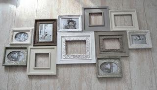 Joy@home woonaccessoires blog: ♥ Collage van fotolijstjes