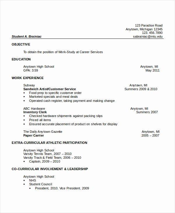 high school dropout resume elegant 10 high school resume