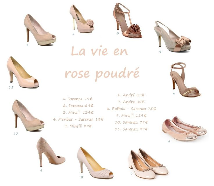 Chaussure mariage rose poudre for Quelle couleur associer au rose poudre