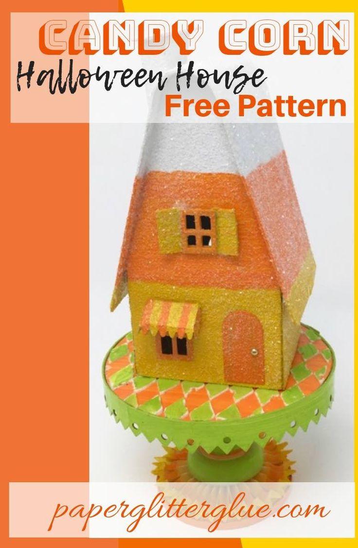 Candy Corn Putz House Free Pattern