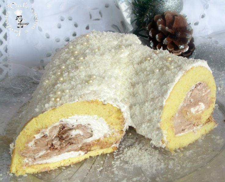Tronchetto di Natale con cocco e nutella