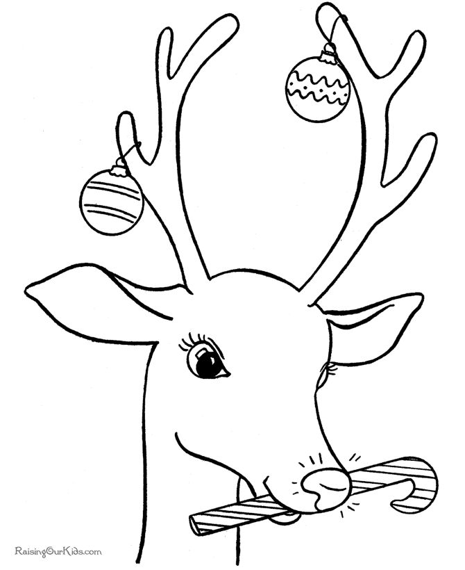 Christmas Reindeer Coloring Pages | Embroidery 7 | Pinterest ...
