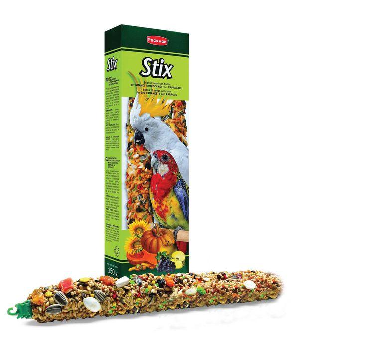 Падован Лакомство STIX Pappagalli палочки фруктовые д/крупных и среднихпопугаев 150 г