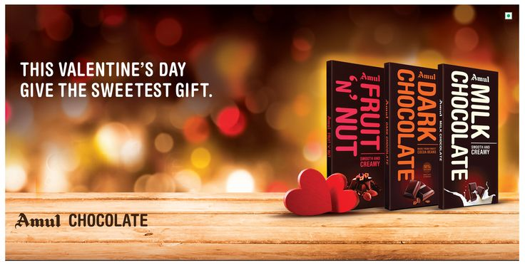 This Valentine's Day, express your love with Amul Chocolates - A gift for someone you love !