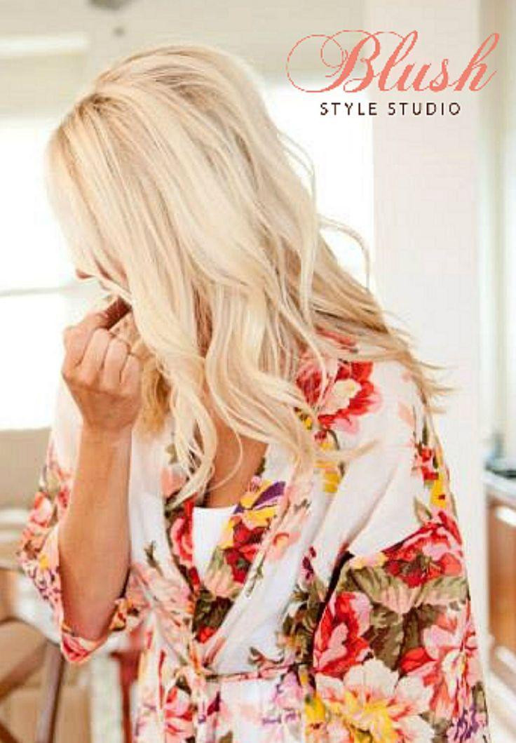 Blonde highlights, long layers, wavy hair, bridal hair all down, wedding hairstyle, wavy hair, www.blushstylestu