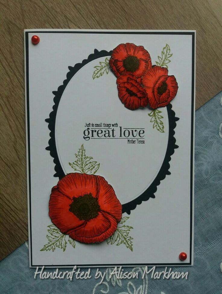 Hunkydory for the love of stamps Poppy field