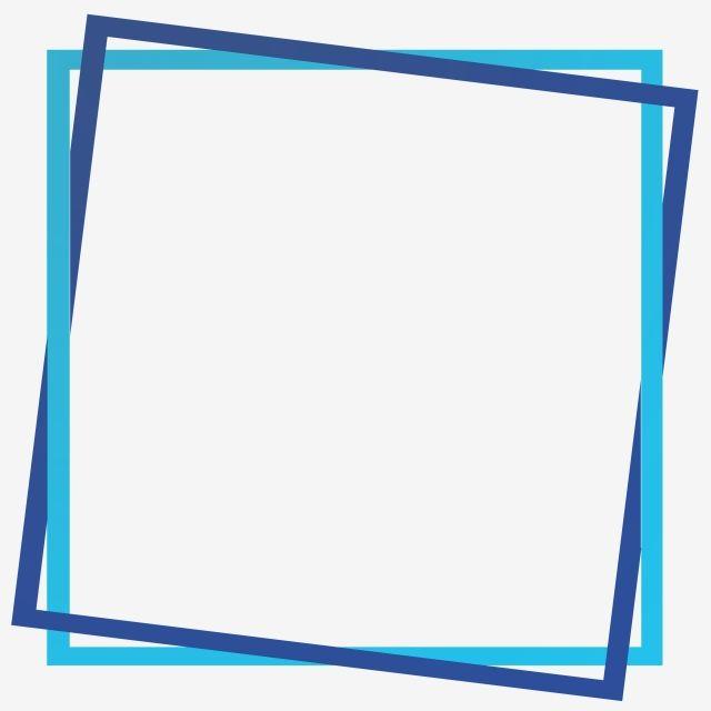 Square Simple Blue Frame Border Png Free Download Poster Background Design Easy Frame Powerpoint Background Design