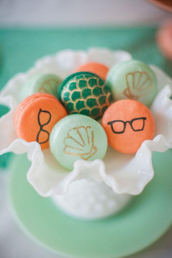 """Macarons. PHOTOS. Un mariage sur le thème de """"La petite sirène"""""""