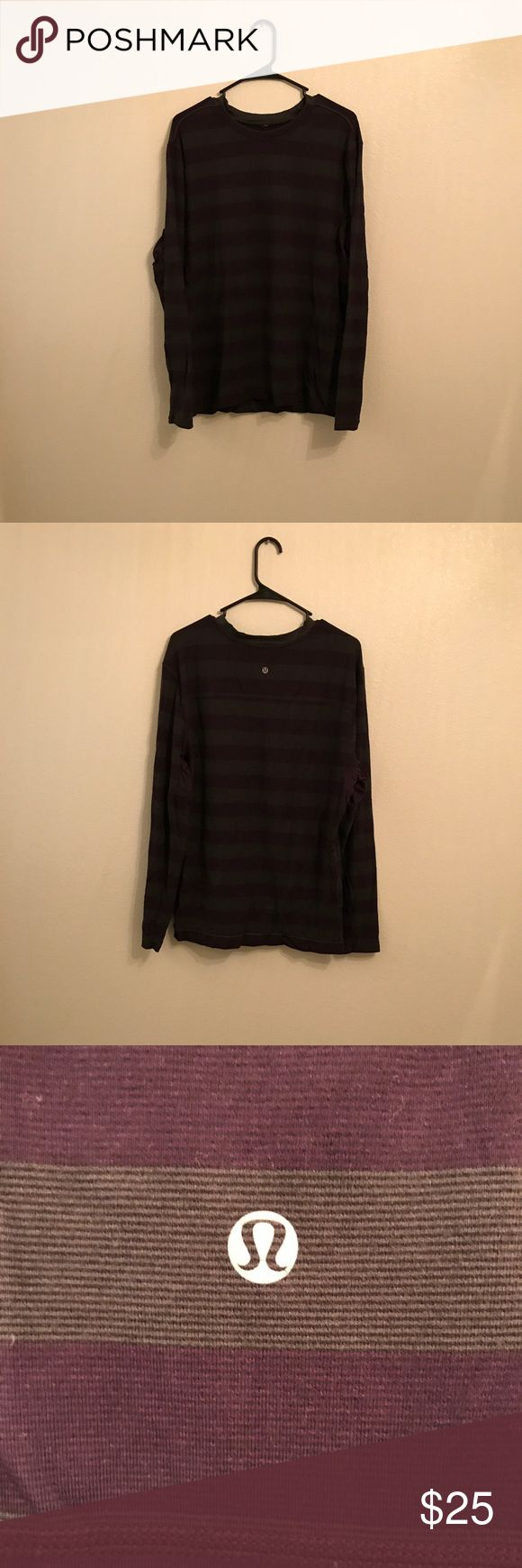 Lululemon Athletica Men's Athletic Top XXL Lululemon Athletica Men's Purple Gray Long Sleeve Athletic Top Size XXL Used in Good Condition lululemon athletica Shirts Tees - Long Sleeve
