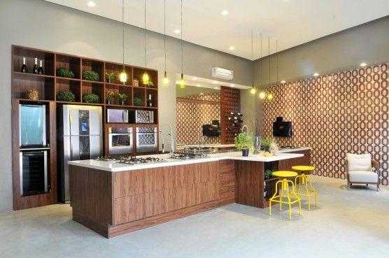 Cozinha Gourmet Uniformidade na estante de armarios