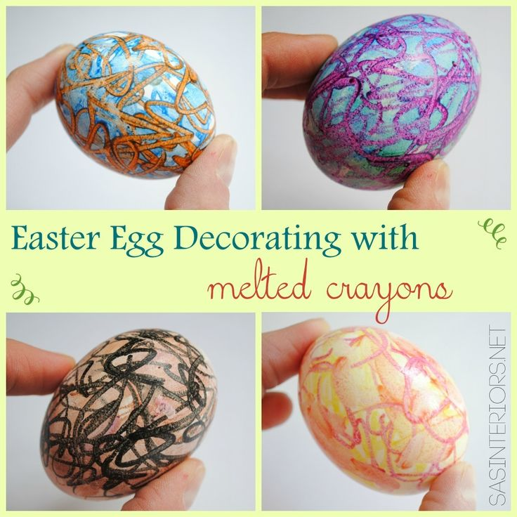 Create colorful EASTER EGGS using Melted Crayons.  It's easy to do + KIDS will LOVE it.