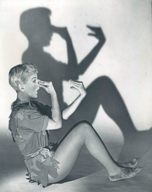 Mary Martin/Peter Pan/1960  Oh my goodness this was like my favourite thing in the world when I was little! Trying to recreate the shadow puppet show!
