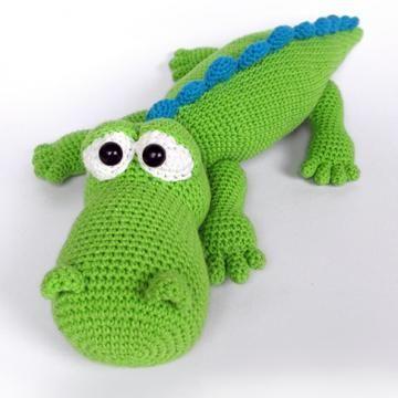 Crocodile Alfred amigurumi pattern by DioneDesign