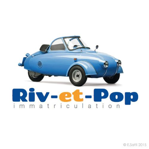 Riv-et-Pop immatriculation - Avignon >logo + site + boutique en ligne + blog