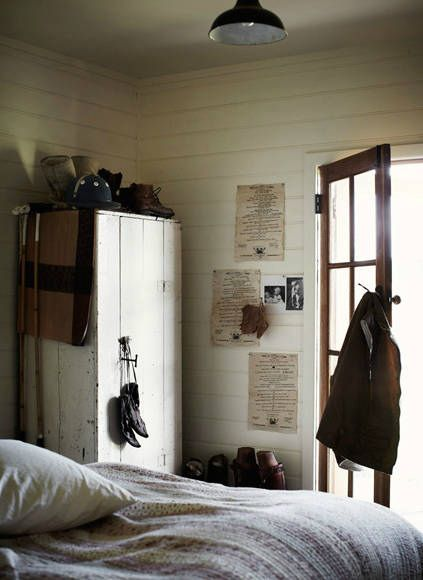 Sharyn Cairns {white and wood eclectic vintage rustic modern bedroom} by recent settlers, via Flickr