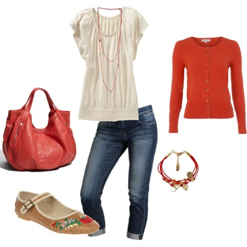 orange for fall: Coral, Red, Cute Shoes, Burnt Orange, Beaches Outfit, Orange Sweaters, Cute Clothing, Accent Color, Bags