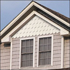 scalloped siding. Want to do this to my house.