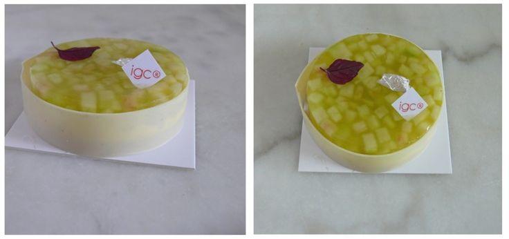 Tartelette pomme Granny Smith-basilic (sablé sésame, crème légère ...