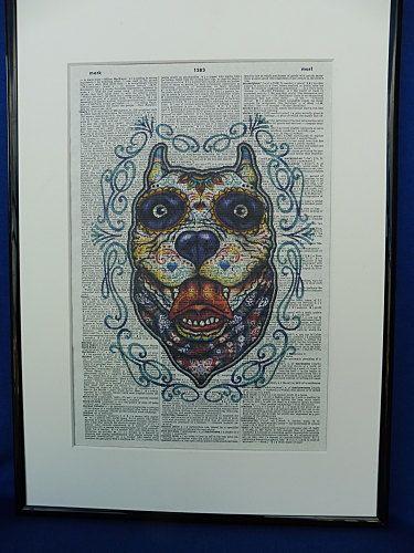 Sugar Skull Pit Bull Dog Dia de los Muertos Pit by DecorisDesigns