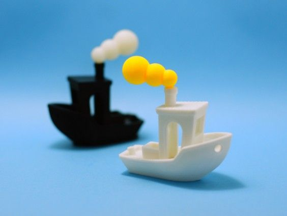 The 3DBenchy boat, designed by Creative Tools, is a free model of a boat used to benchmark and calibrate 3D printers, accessible to all makers.