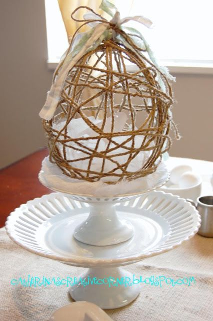 """COUNTRY GIRL HOME : My first """"Feature""""!  {Jute Easter Eggs}"""