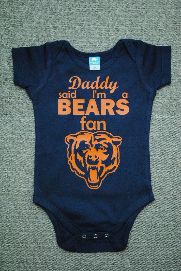 Chicago Bears Onesie or T-Shirt by madebylizi on Etsy https://www.etsy.com/listing/201414398/chicago-bears-onesie-or-t-shirt