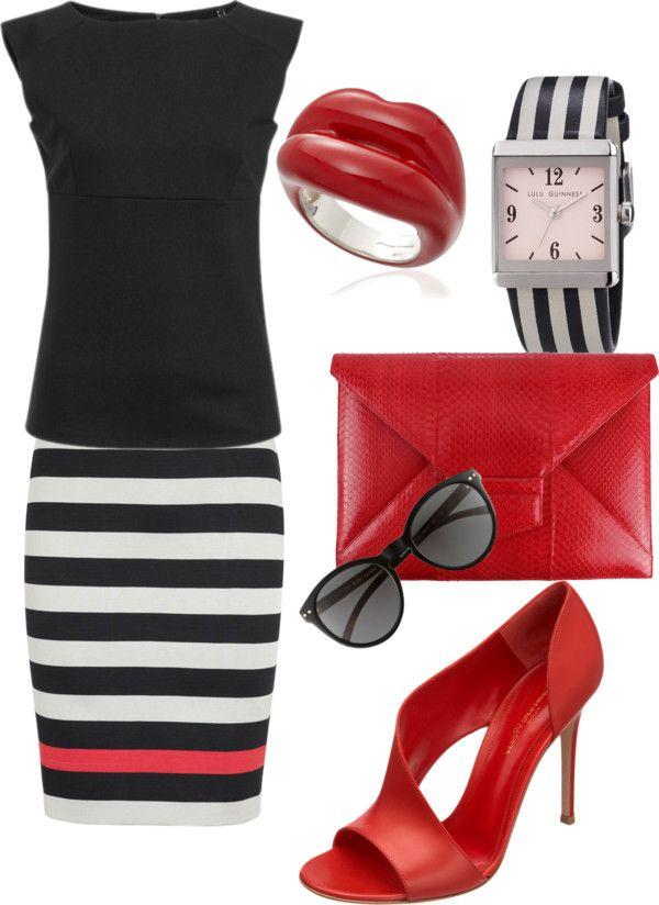 Le righe e il rosso..due cose nella moda intramontabili