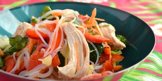 Chicken and vermicelli salad
