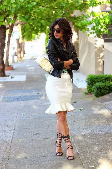 Curating Fashion & Style: Search results for leather skirt