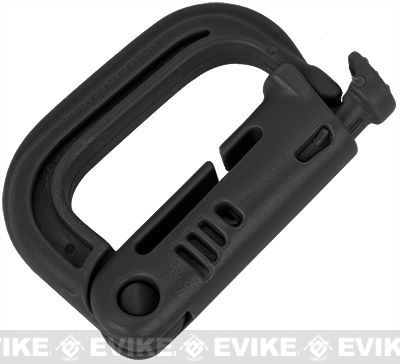 D-Ring Grimloc for MOLLE / Webbing Vest, Belt and Harness by Matrix / Condor - Black, Tactical Gear/Apparel, Other - Evike.com Airsoft Superstore