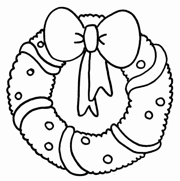 christmas wreath coloring pages elegant