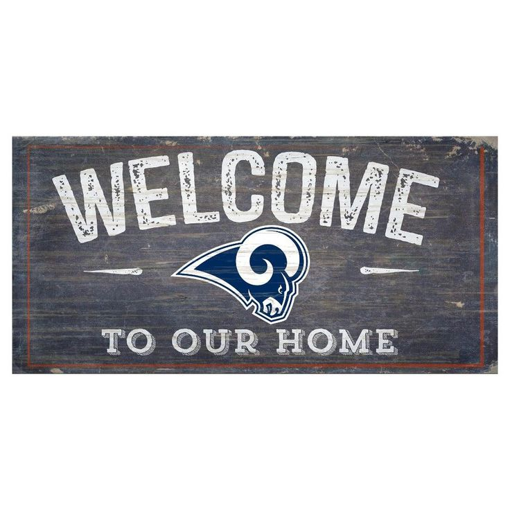 "NFL Los Angeles Rams 6"" x 12"" Welcome Distressed Sign"
