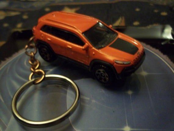 Custom Made Stock Keychain 2014 19 Jeep Cherokee Trailhawk Orange