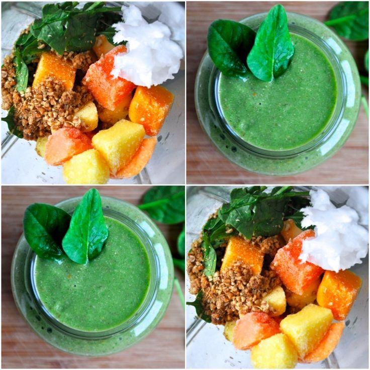 Grön smoothie - mango & spenat