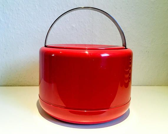 Stelton Ice Bucket  red