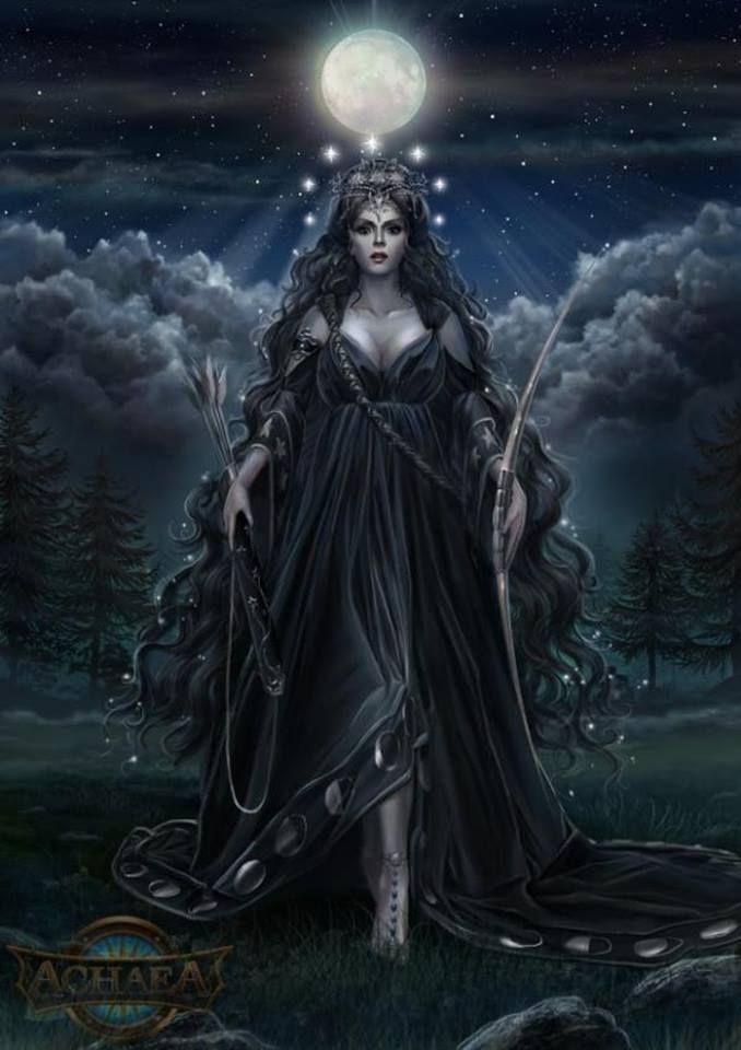 Moon Goddess Ourania - Achaea, Dreams of Divine Lands.