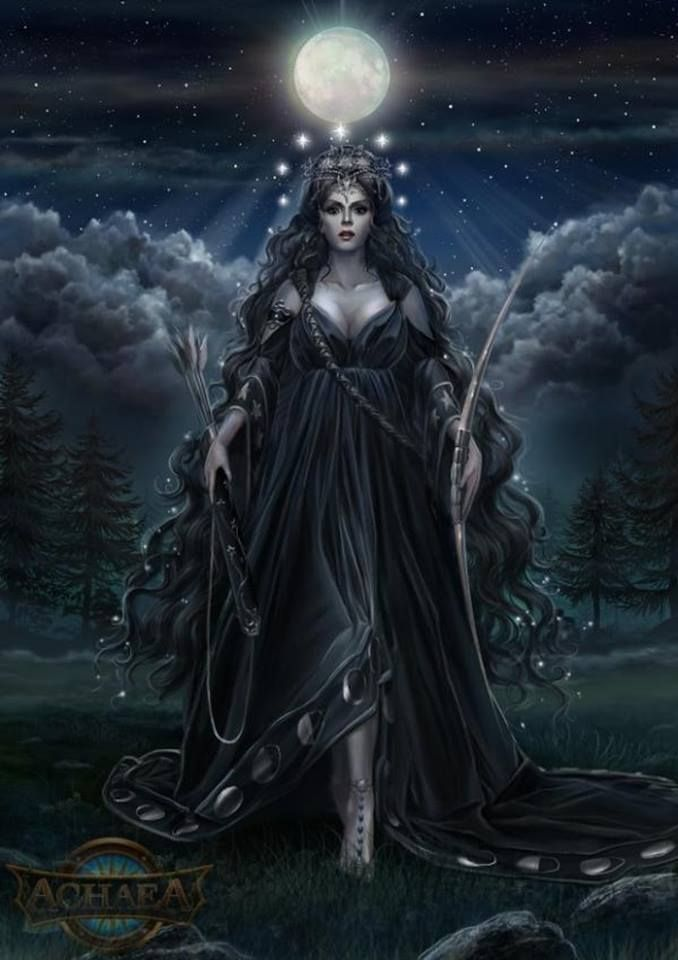 Moon Goddess Ourania - Achaea, Dreams of Divine Lands.